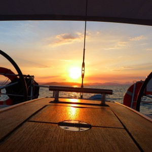blizzard yacht whitsundays sunset