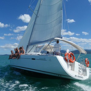 blizzard yacht whitsundays underwater