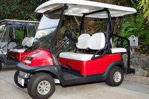 a hamilton island golf buggy