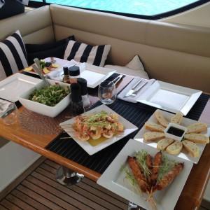Maritimo 60 hamilton island lunch