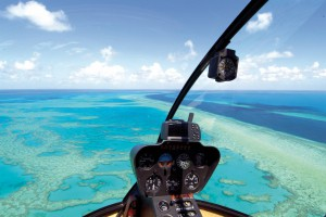 scenic flights over the great barrier reef