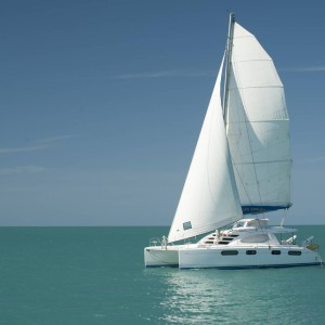 Leopard 46 sailing catamaran two keela
