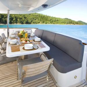 Yacht charters whitsundays sitting lounge