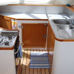 fusion 40 catamaran kitchen