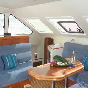 Venturer 38 catamaran cabin