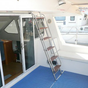 Venturer 38 catamaran stairs