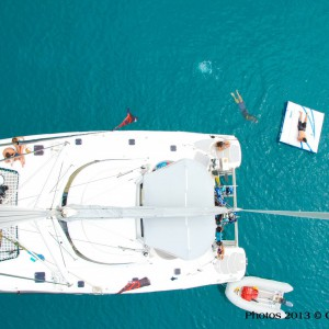 sailing the whitsundays areial view