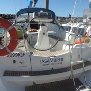 Jeanneau 36 sailing yacht jasambri stern 2