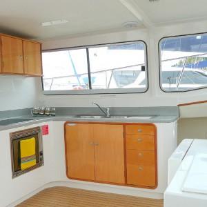 scimitar 36 catamaran kitchen