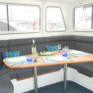 Scimitar 36 catamaran mojo scimitar table
