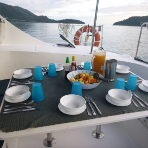 whitsunday blue catamaran food