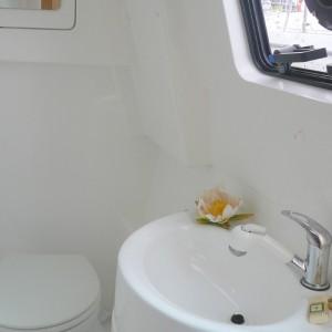 Seawind 1250 catamaran bathroom