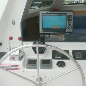 Seawind 1250 catamaran cockpit