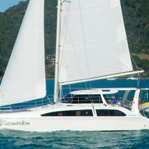 Seawind 1250 catamaran sea window