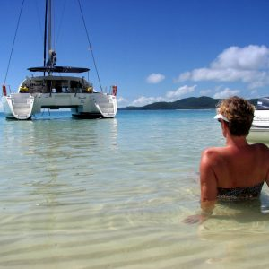 whitsunday blue catamaran beach