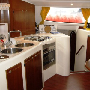 lavezzi 40 catamaran kitchen