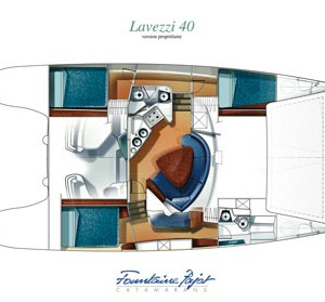 lavezzi 40 catamaran layout