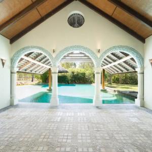 Ride to paradise resort pool