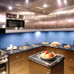 bliss yacht kitchen