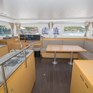 lagoon 450 sailing catamaran kitchen