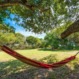 hammock on private island whitsundays